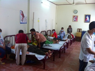 A busy ward at the outpatients clinic